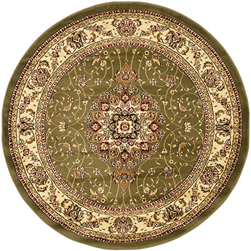 Safavieh Lyndhurst Collection LNH329B Traditional Medallion Sage and Ivory Round Area Rug (5'3