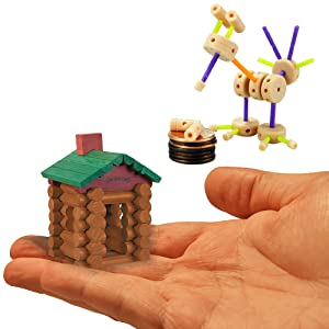 World's Smallest Building Toys Set of 2: Tinkertoy and Lincoln Logs