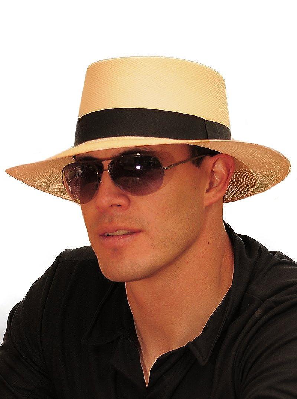 Gamboa Cappello Panama Marrone Autentico Unisex Cappello da Sole di Paglia   Amazon.it  Abbigliamento 6ffcf4b4cbd3