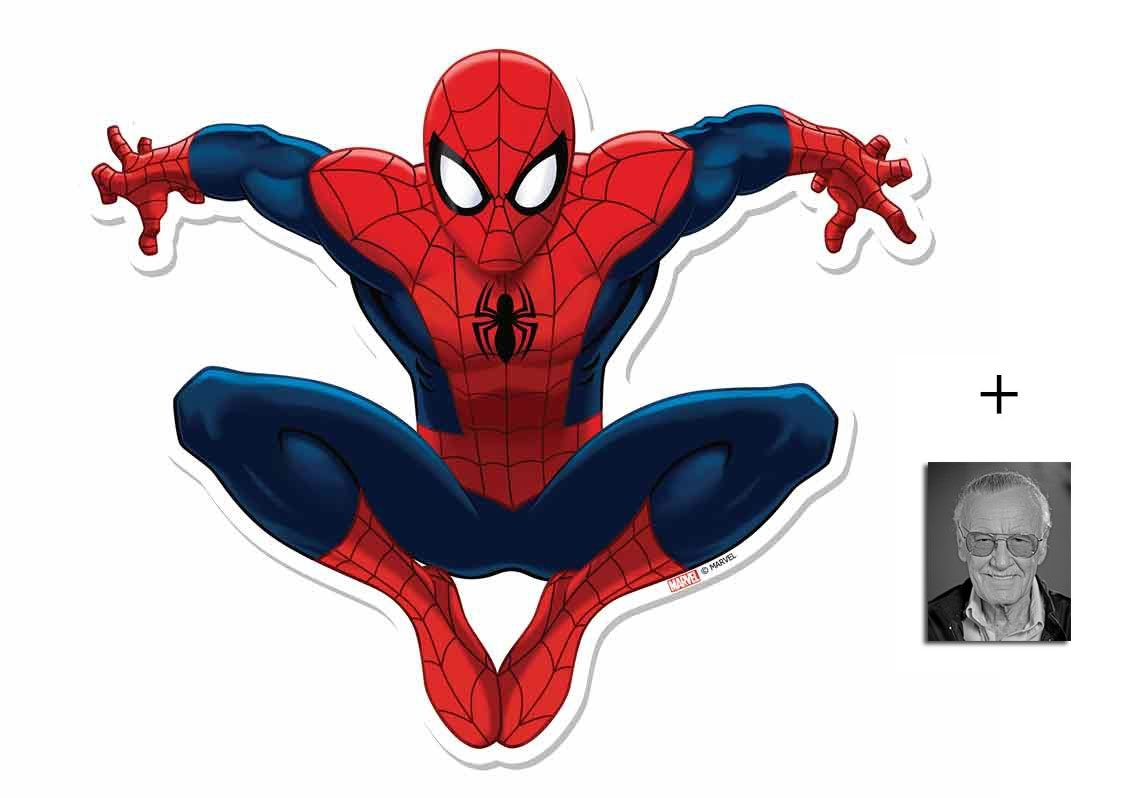Fan Pack - Spider-Man Marvel Official Cardboard Cutout Wall Art Includes 8x10 (20x25cm) Photo