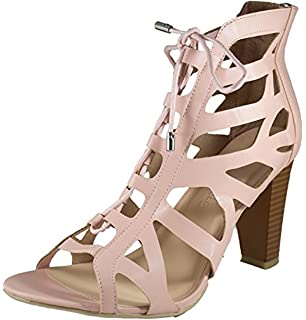 2bb626f37ee Free Reign Women s Cut Out Lace Up Ghille Bootie Heel Sandal (Wide Width)