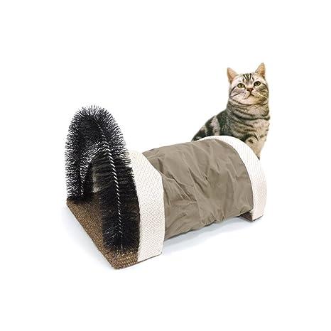 Petacc - Arco para mascotas, masajeador para gatos, juguete multifuncional para gato, diseño