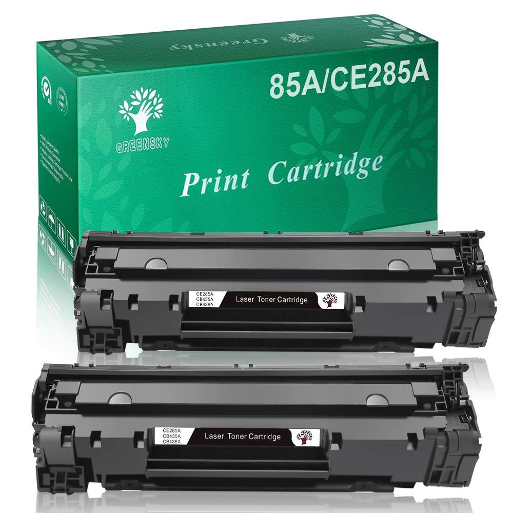 GREENSKY 2 Nero Cartuccia Toner Compatibile Sostitutiva per HP CE285A 85A per HP Laserjet Pro P1102 P1102w P1104 P1104w M1130 M1132 M1132mfp M1134 M1134mfp M1136 M1136mfp M1210 M1210mfp 6855984