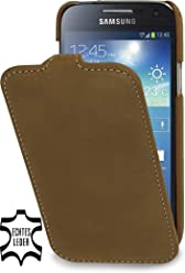 StilGut UltraSlim Case, custodia in pelle per Samsung Galaxy S4 Mini (i9195), marrone old style
