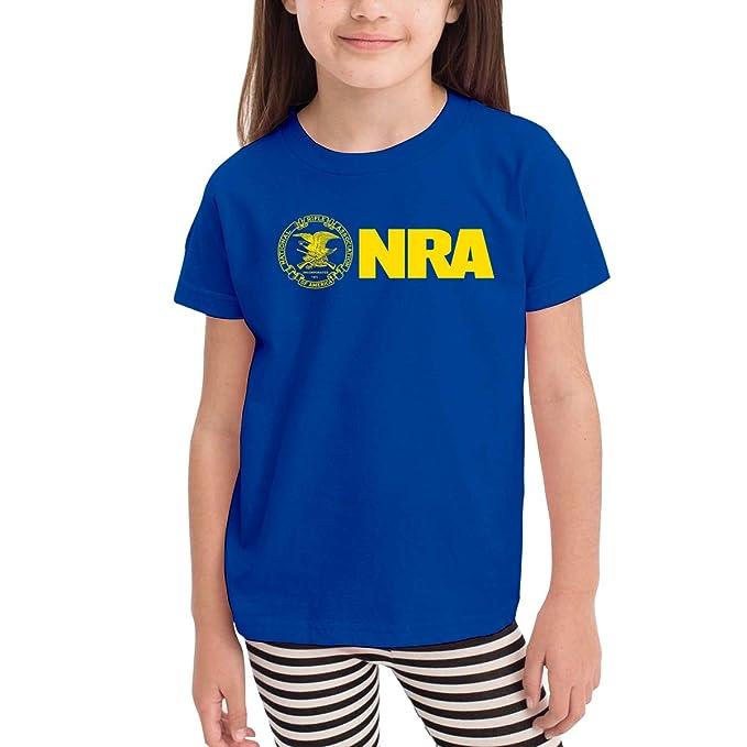 Amazon.com: Camisa infantil NRA amarillo casual de manga ...