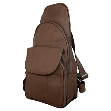 Amazon.com | Genuine Leather Backpack Chest Pack Daypack Sling Bag ...