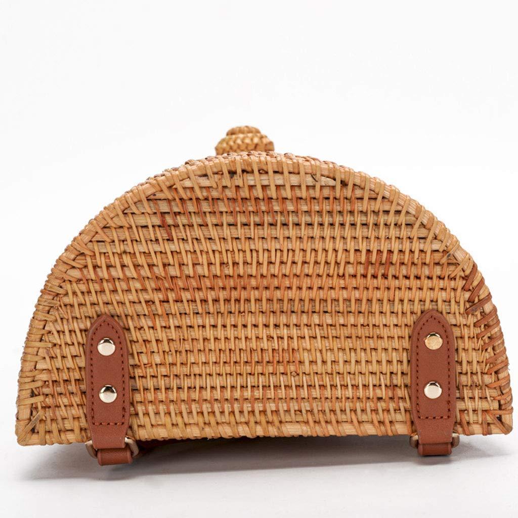 Women's Bag, Fashion Bag - Summer Women's Bag - Hand-Woven Rattan Bag - Crossbody Beach Bag by BHM (Image #3)