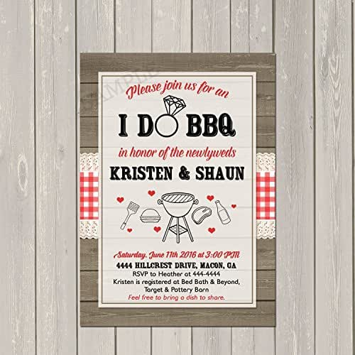 amazon com i do bbq invitation couples wedding shower barbecue