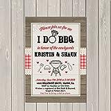 I Do BBQ Invitation, Couples Wedding Shower Barbecue Invitation, Engagement Party BBQ Invite, Rustic Wedding Shower Invitation