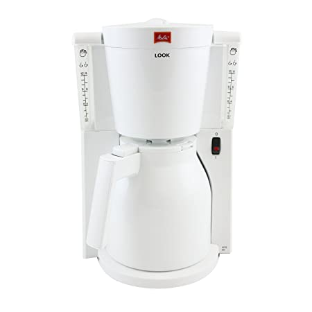 Melitta Look Therm IV - Cafetera de goteo, 1000 W, color blanco ...