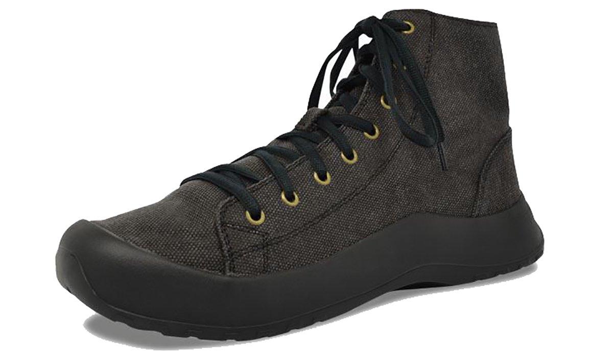 SoftScience Terrain Ultra Lyte Hiking Boot,Black Cotton Canvas,US 4 E