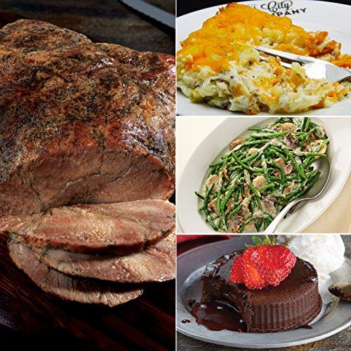 Kansas City Steaks 1 (3.5-4 lb) Pork Roast, 1 (32 oz) Baked Potato Casserole, 1 (26 oz) Green Beans in Mushroom Cream Sauce and 4 (4