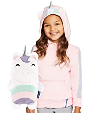 CUBCOATS Uki The Unicorn - 2-in-1 Transforming Hoodie & Soft Plushie - Pink & White