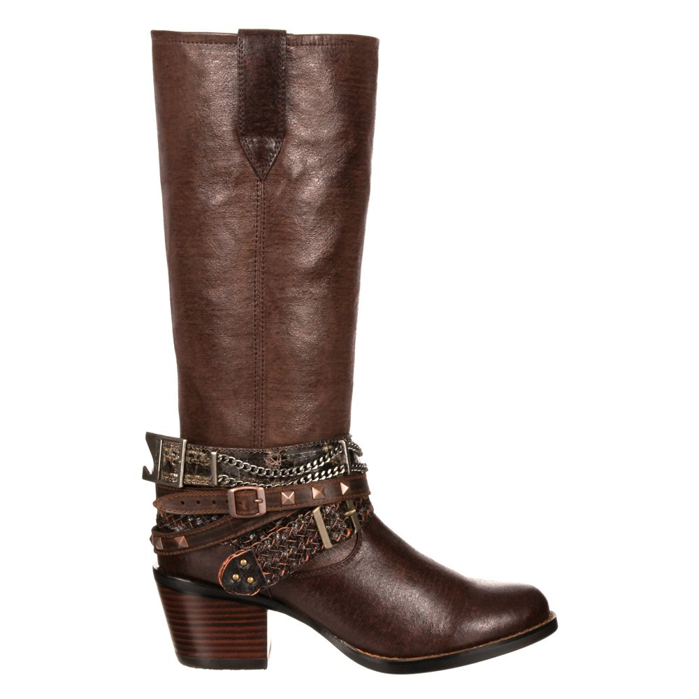 Durango Western Women's Chocolate Philly Accessorized Western Durango Boot Round Toe - Drd0073 B00RCUUUQ0 6 B(M) US|Brown 340866
