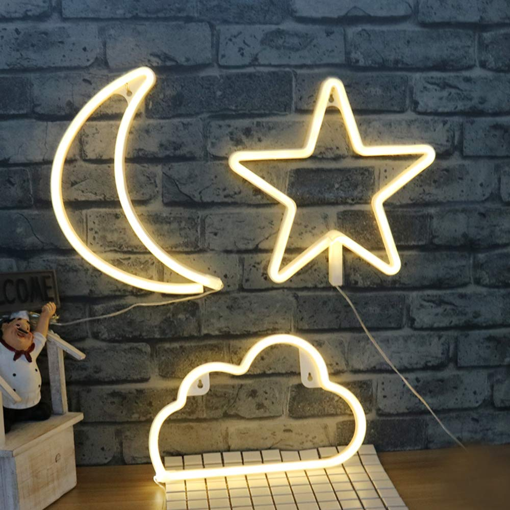 MYGOTO Cute Rainbow Shaped Neon Signs with Battery or USB Powered Night Lights as Wall Decor for Dance Party Festival Girls Room Decoration Accessory Colorful Rainbow