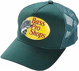 b5a36821d73 Bass Pro Shop Men s Trucker Hat Mesh Cap - One Size Fits All Snapback  Closure -