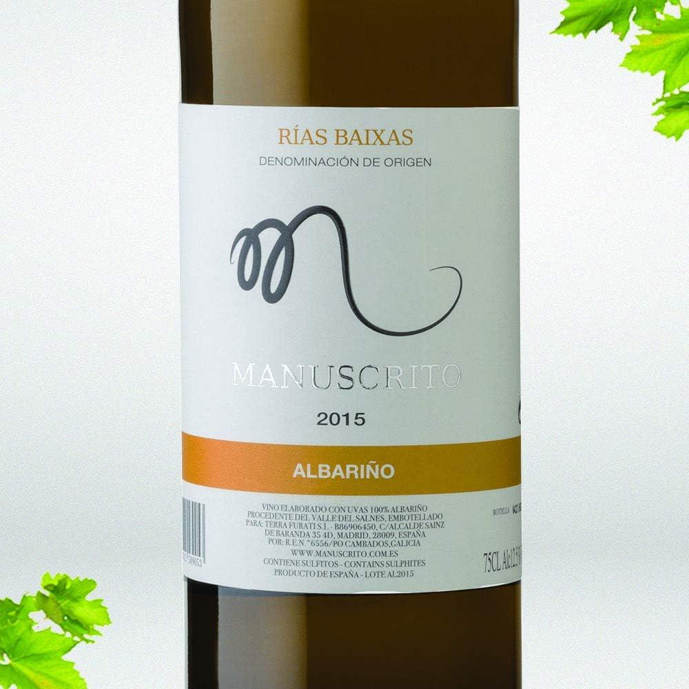 Vinos Manuscrito Pack 6 Botellas - Blanco (4x Albariño 100% - 2x Txakoli 100%): Amazon.es: Alimentación y bebidas