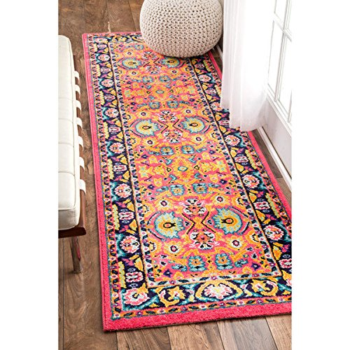 nuLOOM Vibrant Floral Persian Runner product image