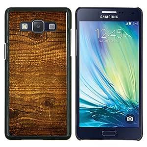 EJOOY---Cubierta de la caja de protección para la piel dura ** Samsung Galaxy A5 A5000 ** --Modelo de madera natural de la textura Brown Pared