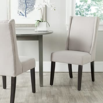 Superb Safavieh Mercer Collection Sher Side Chair, Taupe, Set Of 2