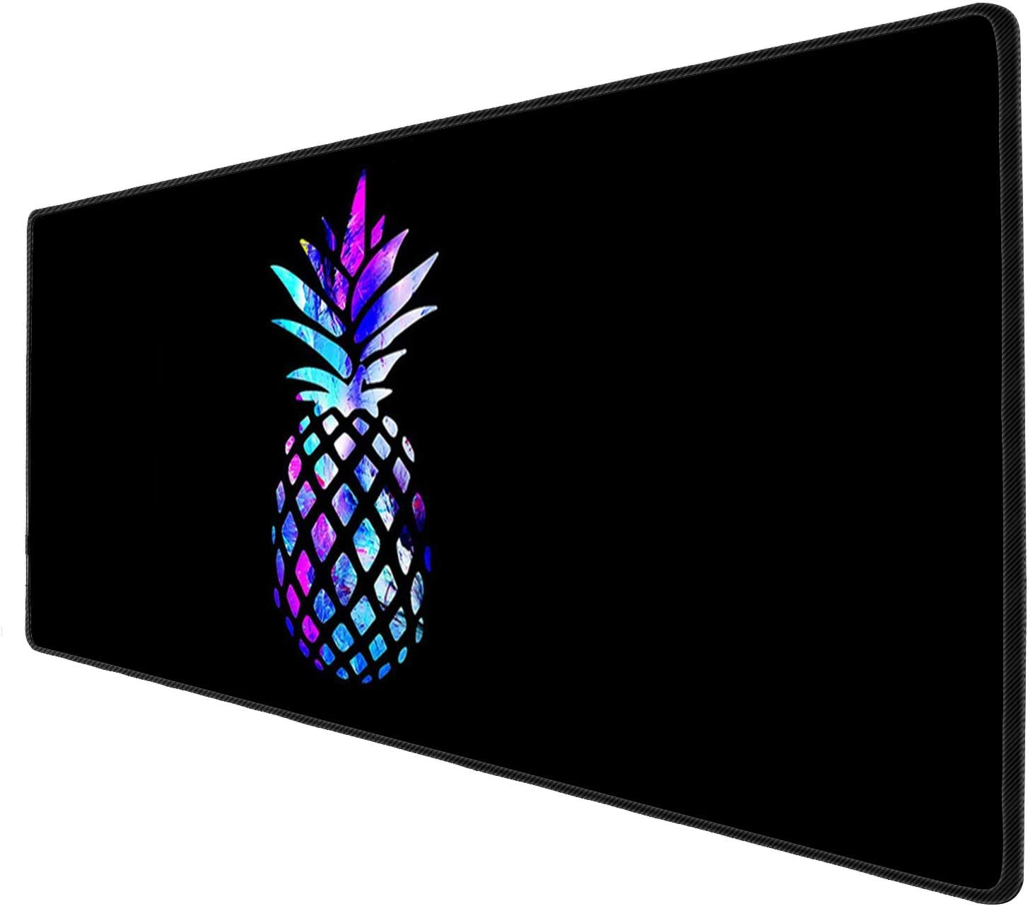 iNeworld Large Mouse Pad XXL Computer Game Mouse Mat Desk Pad Keyboard Mat Big Mouse Pad for Laptop Work & Gaming& Office & Home (31.5×11.8×0.15 inch)-Shiny Pineapple