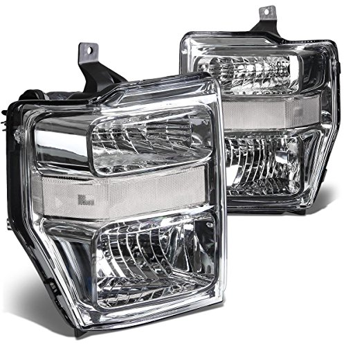 Rxmotor Ford F250 F350 F450 Headlights Lamps Off Road Used Custom Made Retrofit 2008-2010 (CLEAR CHROME)