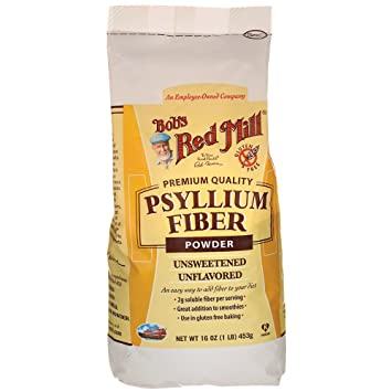 Amazoncom Bobs Red Mill Fiber Powder Psyllium 16 Oz Grocery