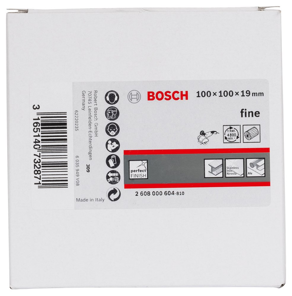 Bosch 2608000605 Rouleau /Ã/ lamelle en non-tiss/Ã/© 19 mm superfine 100 mm 100 mm