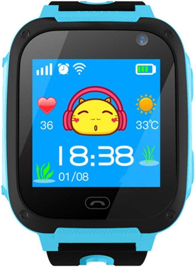 Ballylelly Reloj Inteligente de posicionamiento telefónico para niños Smartwatch Pantalla táctil Multifuncional con GPS