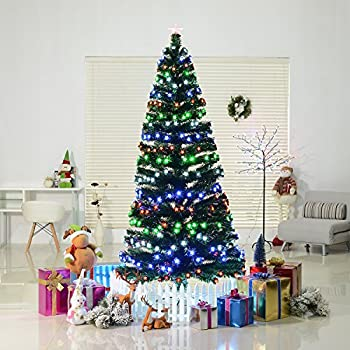 6' Artificial Pre-Lit 230 LED Stars and Fiber Optic Light Up Christmas Tree - Amazon.com: 6' Artificial Pre-Lit 230 LED Stars And Fiber Optic