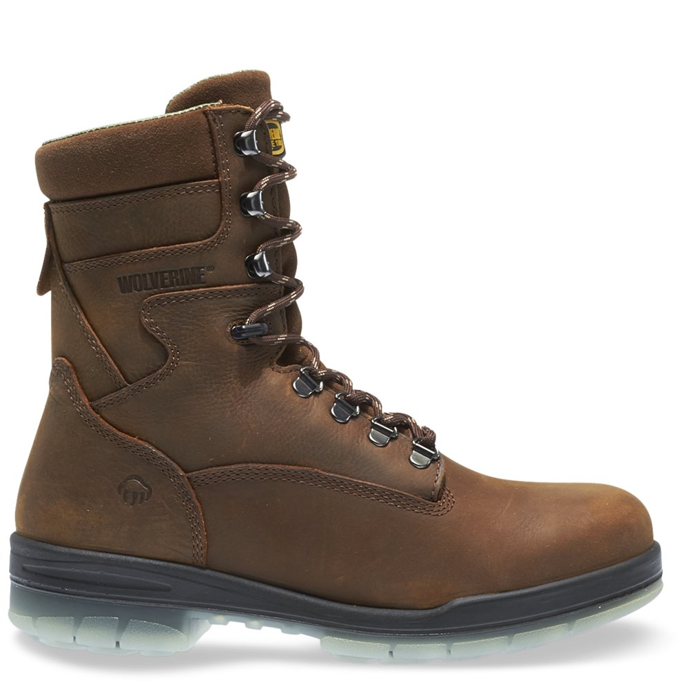 Wolverine I-90 DuraShocks Waterproof Insulated Steel Toe 8'' Work Boot Men 10.5 Stone