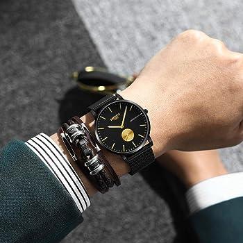 Relojes Reloj Reloj para Mujer Y Hombre Reloj De Moda Relojes Unisex Reloj De Pulsera Ultra Fino Relojes para Hombre 3 España: Amazon.es: Relojes