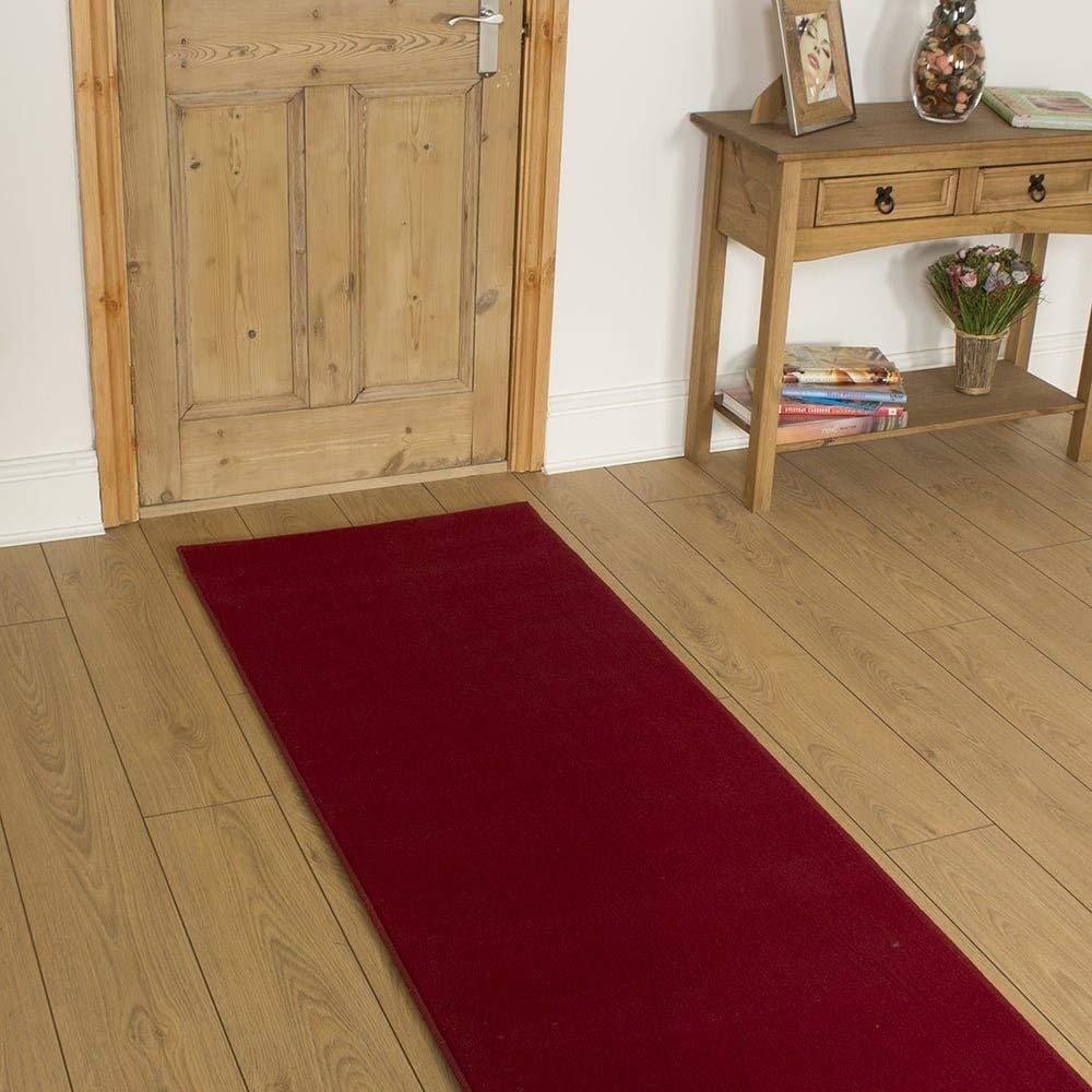 Carpet Runners UK , rot Uni – Hall, Treppe Teppich Teppich Teppich Läufer (erhältlich in Jede Länge bis 30 m) B01K27ZBH2 Lufer b3e296