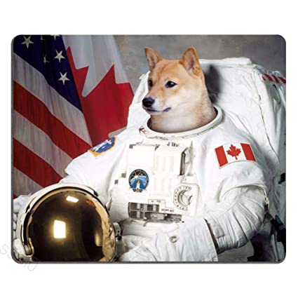 Amazon com : Comptuer Mouse pad, Funny Doge Astronaut Work