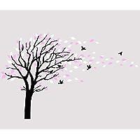 Large Tree Blowing in The Wind Tree Wall Decals Wall Sticker Vinyl Art Kids Rooms Teen Girls Boys Wallpaper Murals…