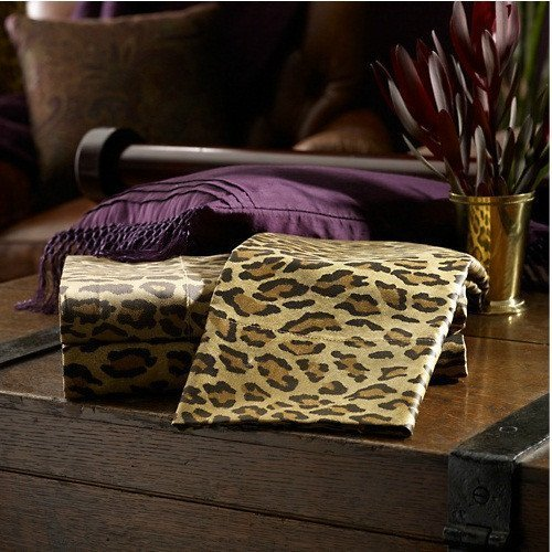 Ralph Lauren Leopard Print King Size Pillowcases (2 in pack) by RALPH LAUREN