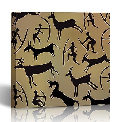 Amazon com: Emvency Painting Canvas Print Square 16x16