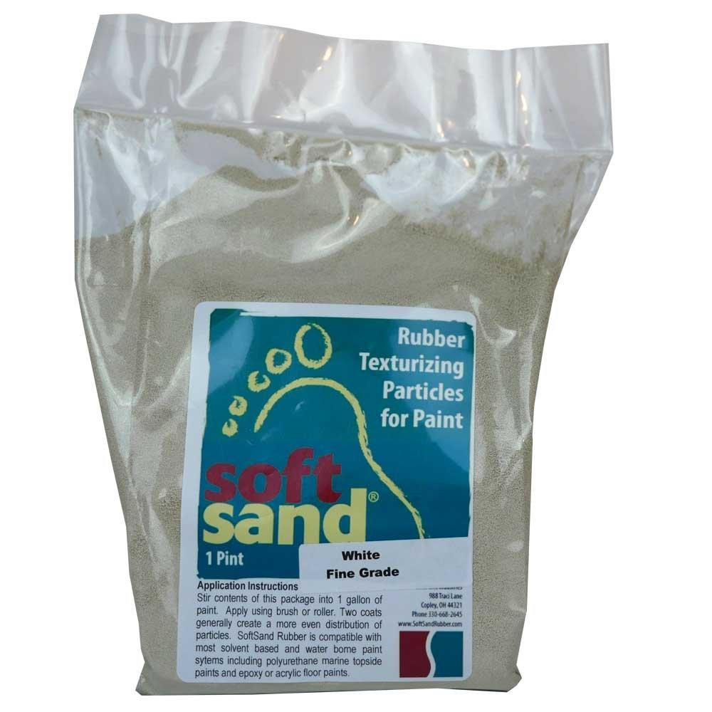 SoftSand Rubber Particles Non-Skid Coatings SR-101 SR-102 (16 Ounce Fine Grade, White)