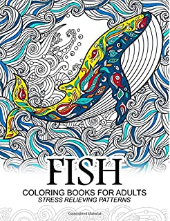 Fish Coloring Book for Adults: Amazon.co.uk: Individuality Books ...