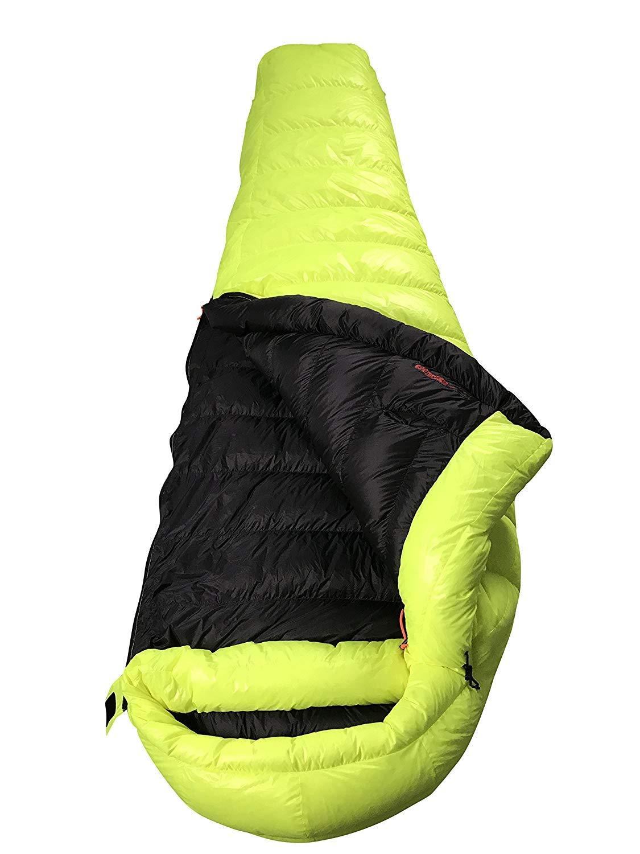 AEGISMAX マミーダウン寝袋 グースダウン寝袋 冬用ダウンスリーピングバック ダウンシュラフ 連結可【耐寒温度-6℃~-1℃ /-12℃~-5℃ 800FP】 B07P77HH4V Summit1 黄色 Large Large Summit1 黄色