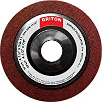 "Griton SP455 Aluminum Oxide Fine Surface Preparation Wheel, 4-1/2"" x 7/8"" (Pack of 10)"