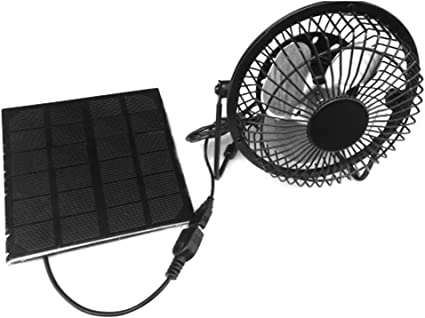 willl 8hoyle Panel Solar Powered Fan, 3 W 5 V Exterior Portátil ...