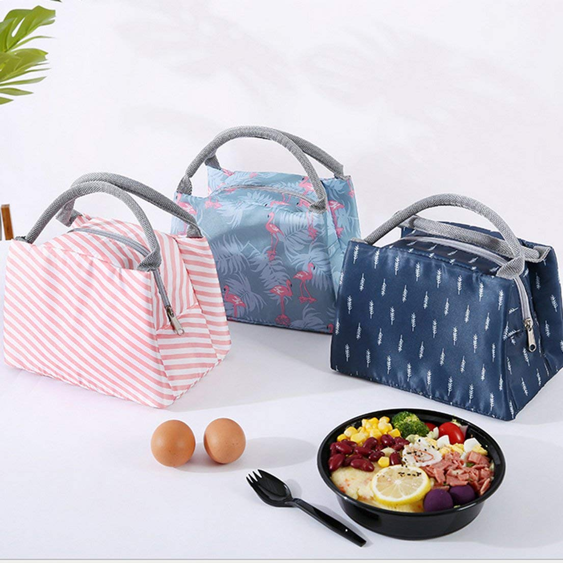 Bolsa de almuerzo para picnic al aire libre con forro de aluminio aislante t/érmico Leoboone bolsa de almuerzo port/átil para hielo