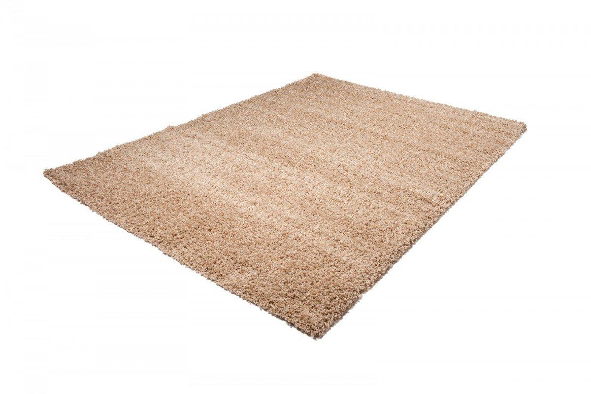 Carpeto Shaggy Teppich Teppich Teppich Hochflor Einfarbig Langflor Hochwertig - Wohnzimmer Modern Teppichläufer - Dicht Gewebt 50MM - VIELE GRÖßEN - ÖKO Tex (140 x 190 cm, Braun) 00e926