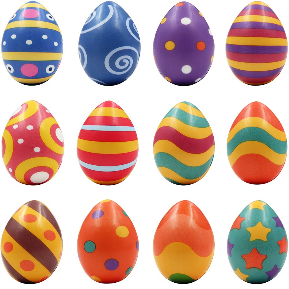 MeiGuiSha 12 Packs Squishy Easter Hunt Egg Toys As Party Favor Novelty Gifts