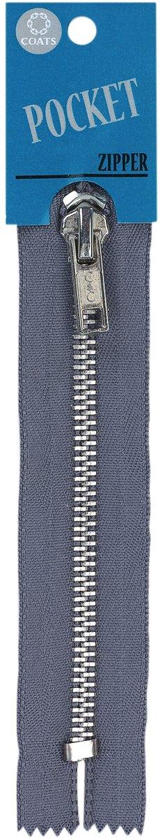 ファッションのポケット/アルミ歯ジッパー 5」-スレート   B0083LCVDW