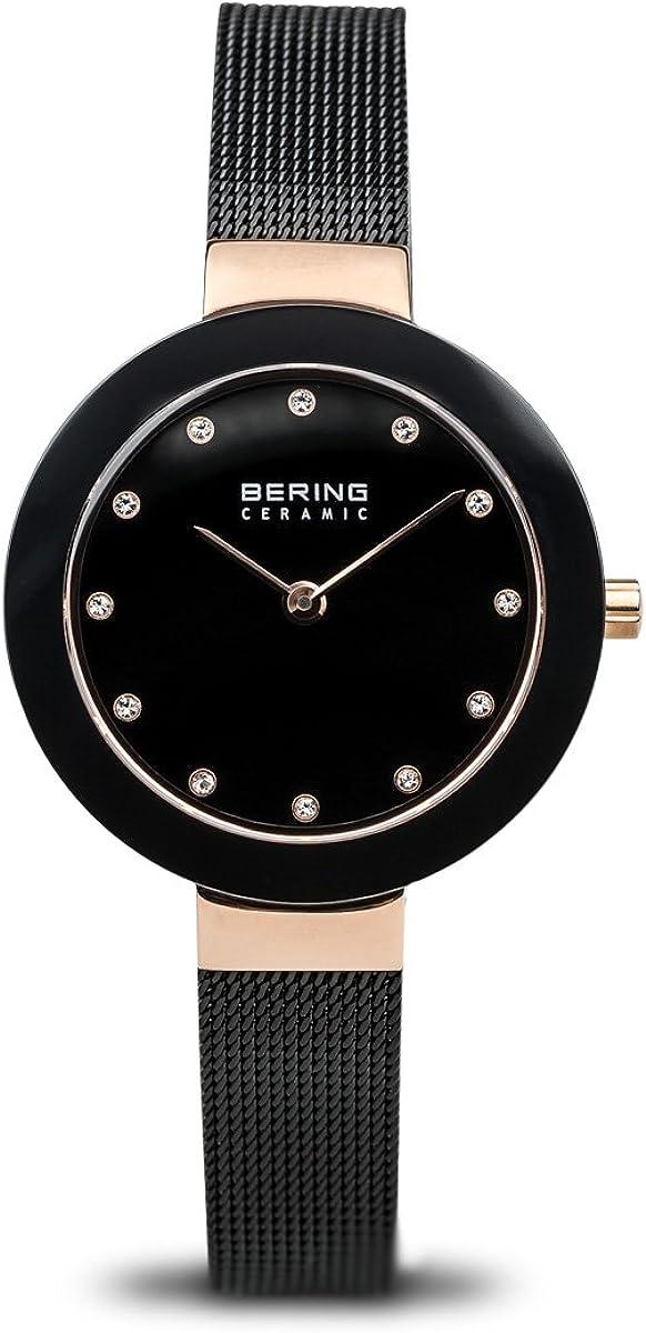 BERING Reloj Analogico para Mujer de Cuarzo con Correa en Acero Inoxidable 11429-166