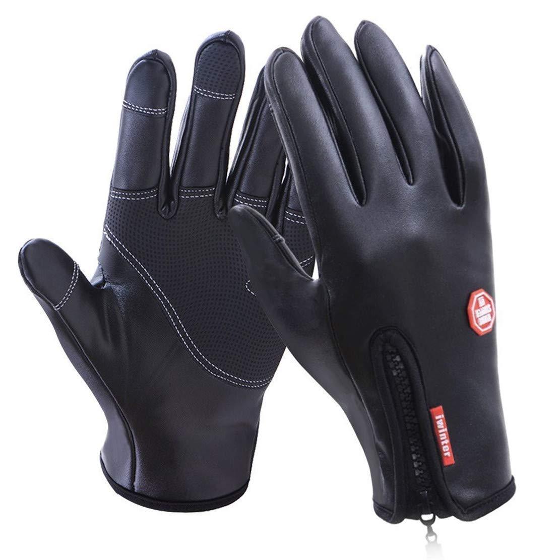 AUPUMI Handschuhe Motorrad, Winter Handschuhe Winddicht Thermische Fü r Mä nner Frauen Ideal fü r Sport Im Fre