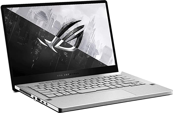 "ASUS - ROG Zephyrus G14 14"" Ultra-Slim Gaming Laptop - AMD Ryzen 9 4900HS NVIDIA GeForce RTX 2060 Max-Q 24GB DDR4 RAM, 1024GB PCIE SSD, 0TB HDD, Backlit Keyboard, Windows 10 Home Moonlight White"