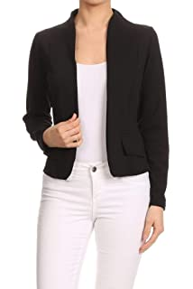 Amazon.com: Kimloog Womens Casual Work Office Blazer Long ...